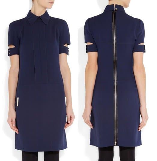 Victoria Beckham Wool and silk-blend dress-horz