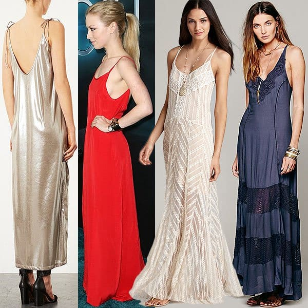 Long slip dresses are worthy of the red carpet