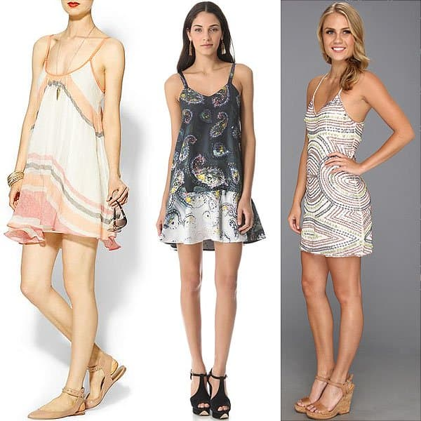A stiffer fabric makes a slip dress look more substantial and less like a nightie