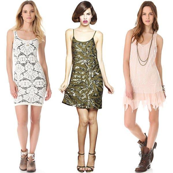 textured slip dresses