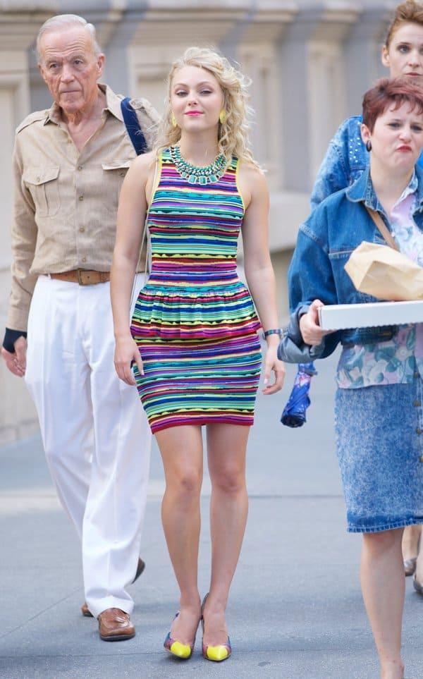 AnnaSophia Robb filming in New York