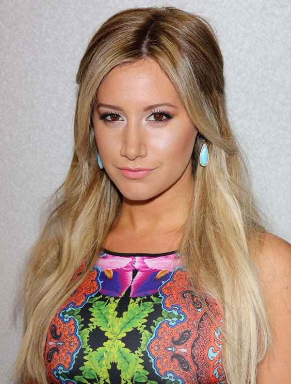 Ashley Tisdale's stretch-neoprene Clover Canyon dress