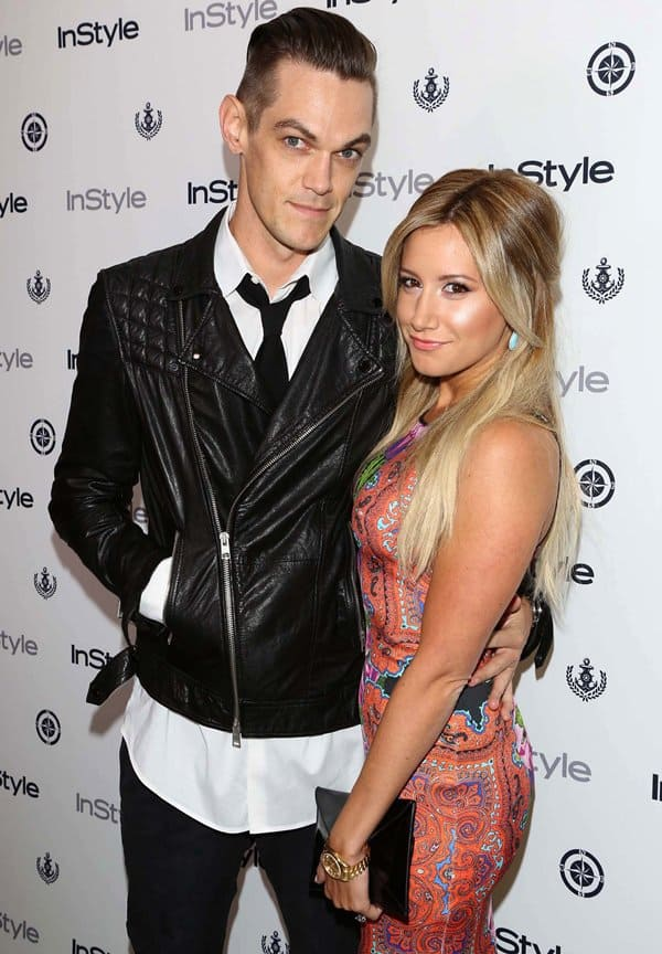 Ashley Tisdale and Christopher French at the 12th Annual InStyle Summer Soiree