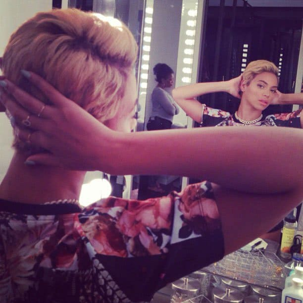 Beyonce short hairdo 1
