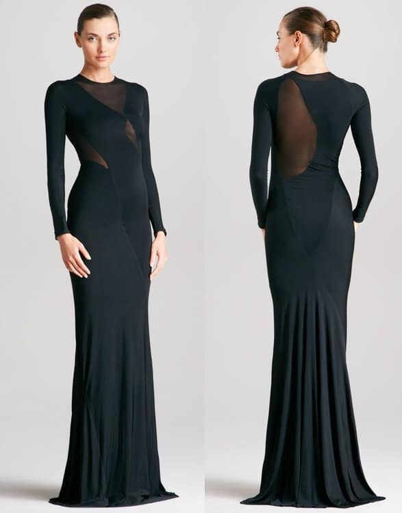 Donna Karan Long Sleeve Gown