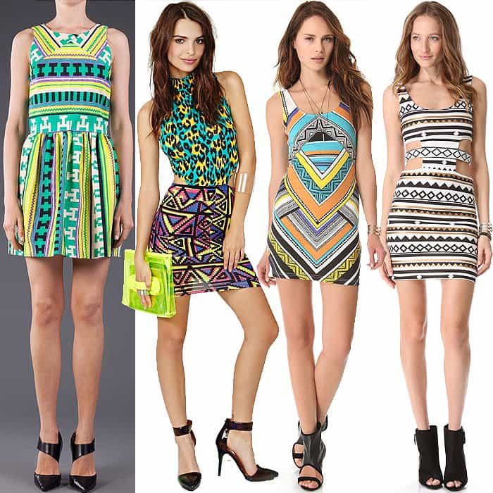 Geo print dresses