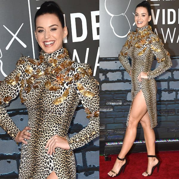 Katy Perry released a teaser of her 'Roar' music video at the VMAs