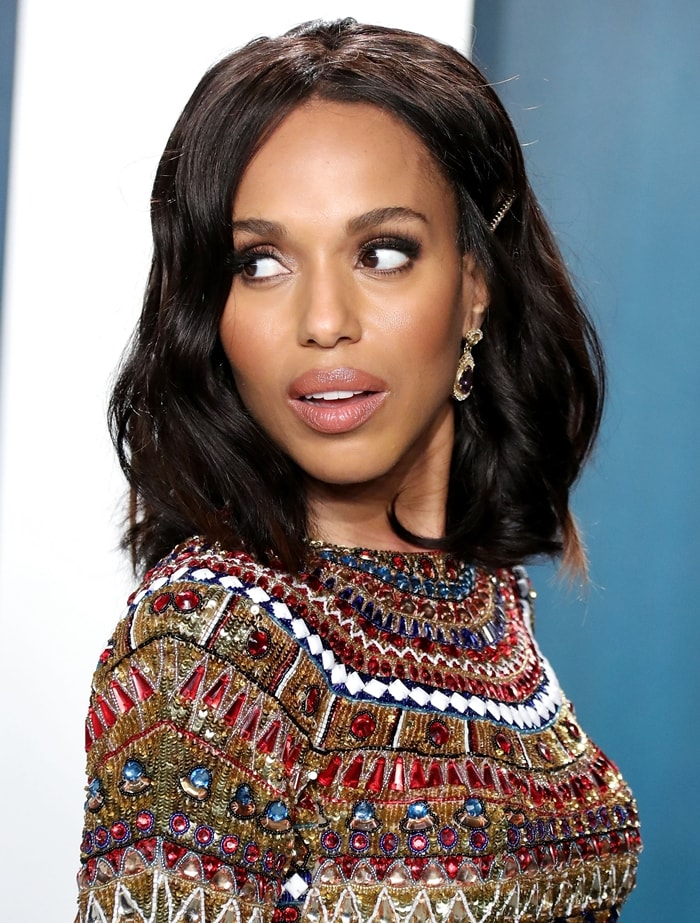 Kerry Washington has set an Emmy Award record for a single person in a single season