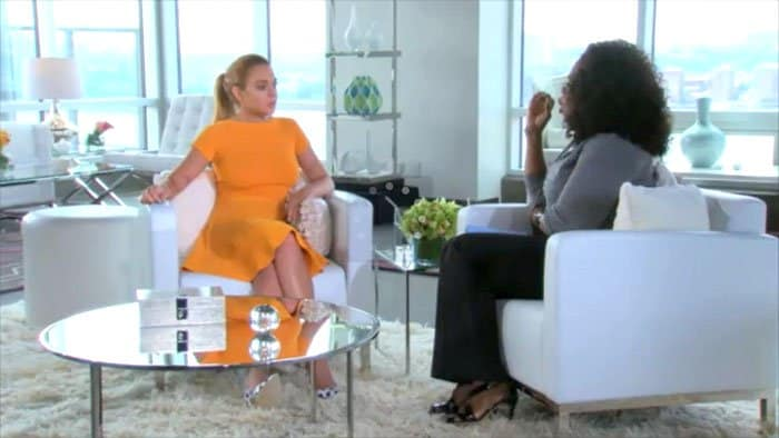 Lindsay Lohan Oprah interview 1