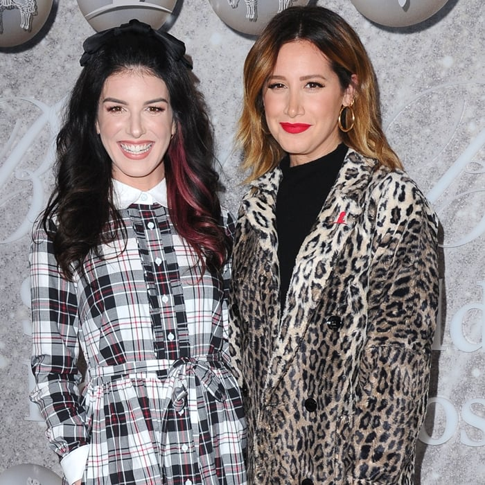 Shenae Grimes-Beech and Ashley Tisdale attend Brooks Brothers Annual Holiday Celebration