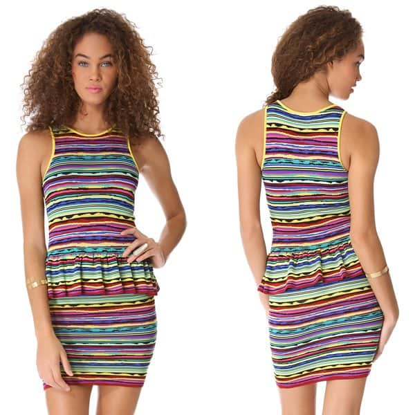 Torn by Ronny Kobo Solange Vintage Stripes Dress