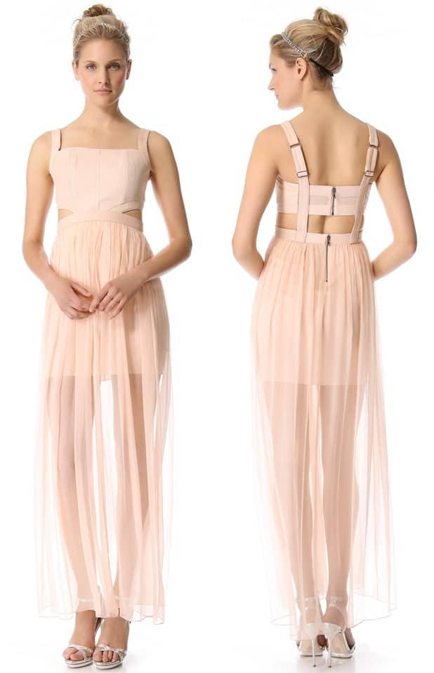 Alice and Olivia Chiffon Cutout Dress