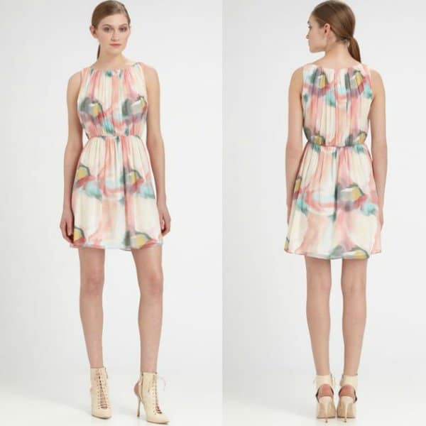 Alice + Olivia Mary Pleated Dress