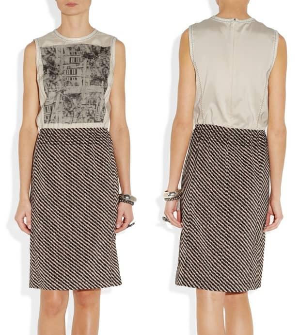 Bottega Veneta Embroidered Printed Dress