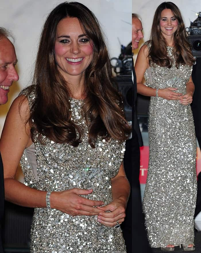Catherine, Duchess of Cambridge, departing from the Tusk Event at the Royal Institute