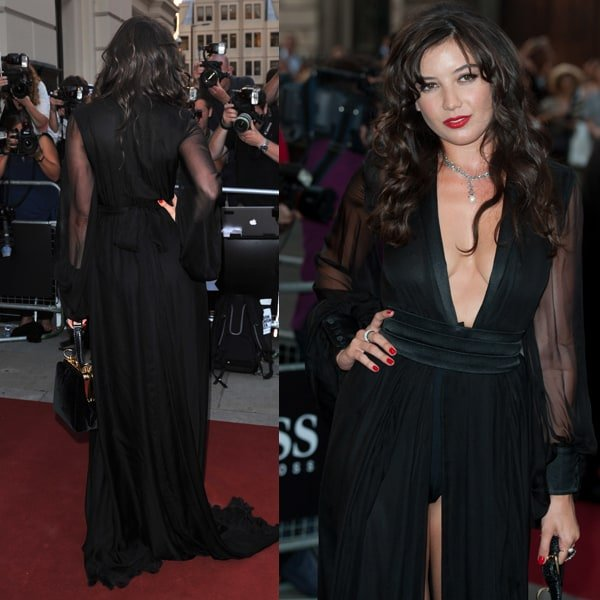 Daisy Lowe displayed her undergarments on the red carpet