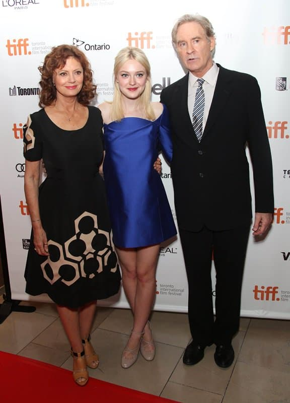 Susan Sarandon, Dakota Fanning, and Kevin Klein at the Night Moves premiere at the 38th Toronto International Film Festival in Toronto, Canada, on September 6, 2013