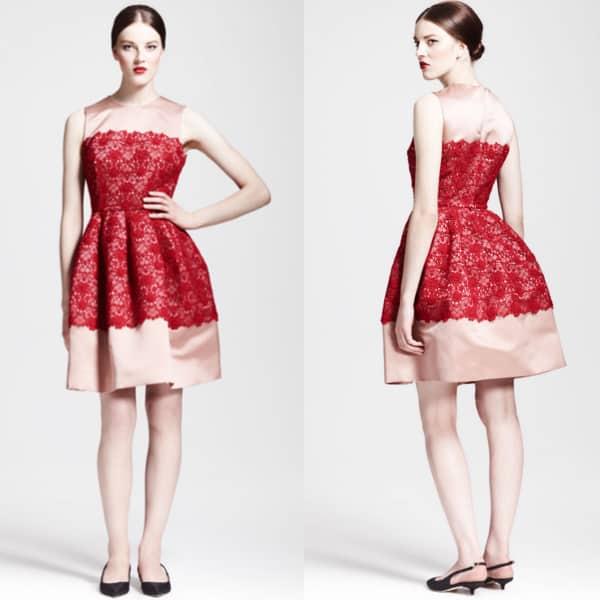 Dolce & Gabbana Sleeveless Full Lace Combo Dress