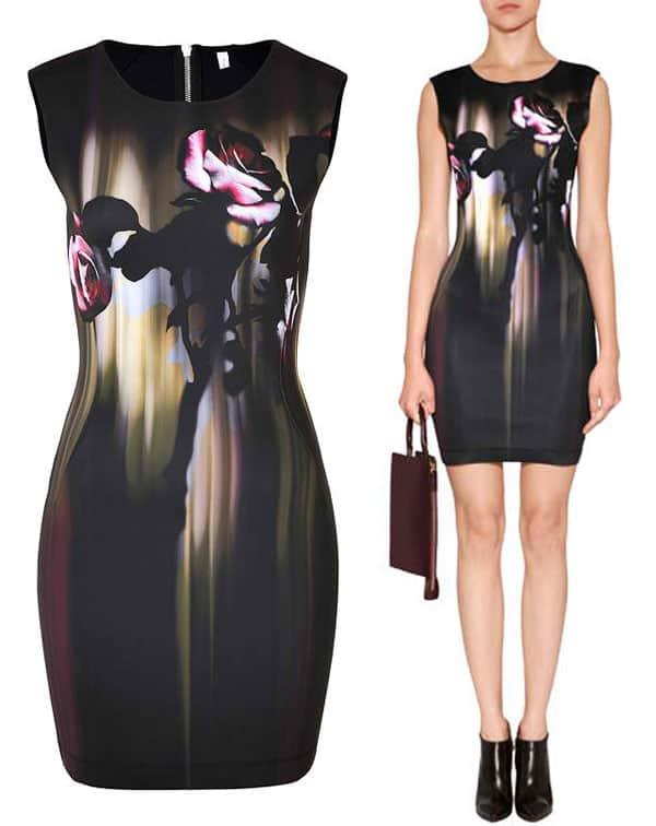 Faith Connexion Rose Printed Neoprene Dress in Multicolor