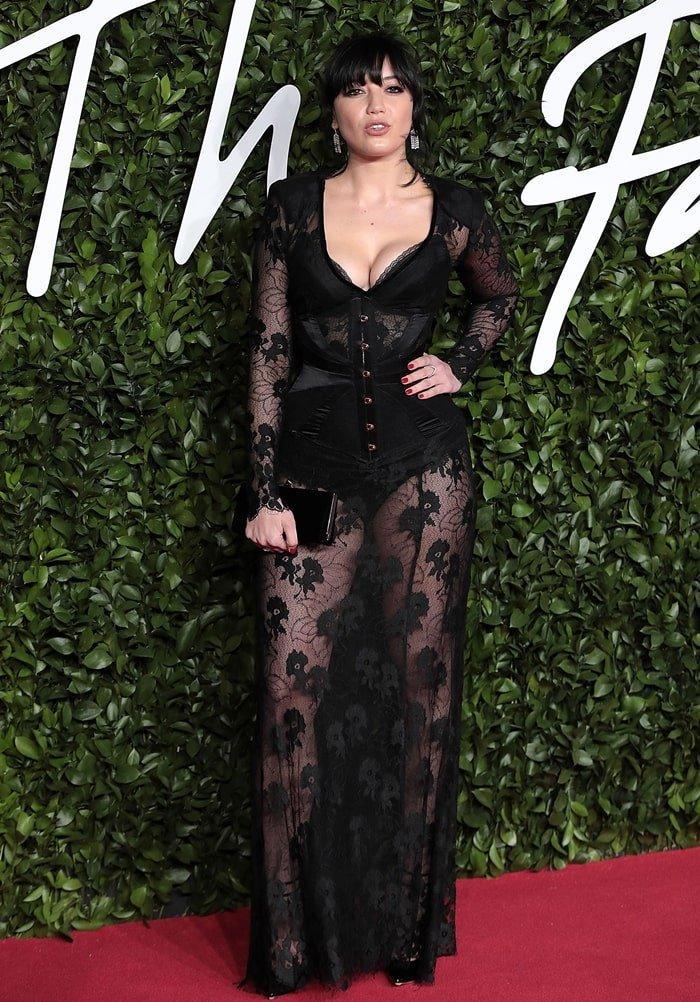Gavin Rossdale's daughter Daisy Lowe arrives at The Fashion Awards 2019