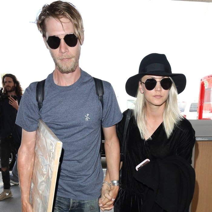 Pictured at Los Angeles International Airport in May 2015, Kaley Cuoco and Ryan Sweeting finalized their divorce in May 2016
