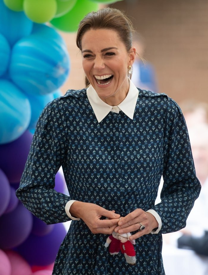 Kate Middleton, pictured during a visit to Queen Elizabeth Hospital in King's Lynn as part of the NHS birthday celebrations in Norfolk, United Kingdom, on July 5, 2020, has the best celebrity body according to a survey published by Express