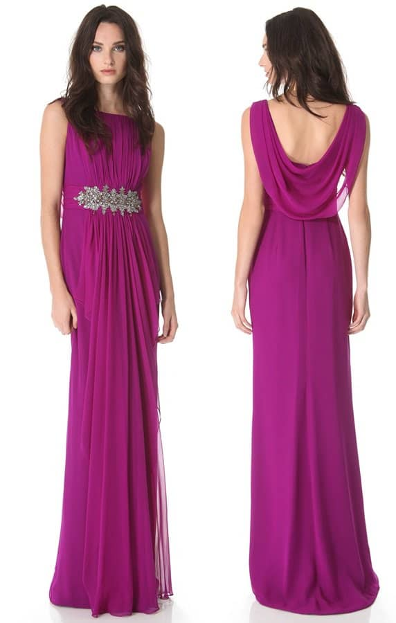 Notte by Marchesa Ruched Silk Gown