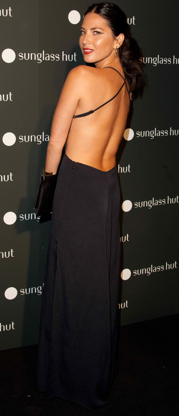 Wear Your Sunglasses Olivia Munn Is Blinding In Backless