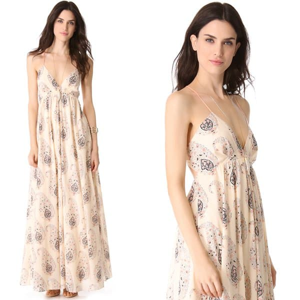 Faded paisley lends vintage charm to this soft voile dress from Rebecca Taylor