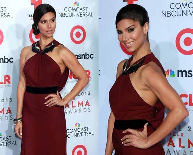 However, we're not too sure how we feel about Roselyn Sanchez' one-sided hairdo