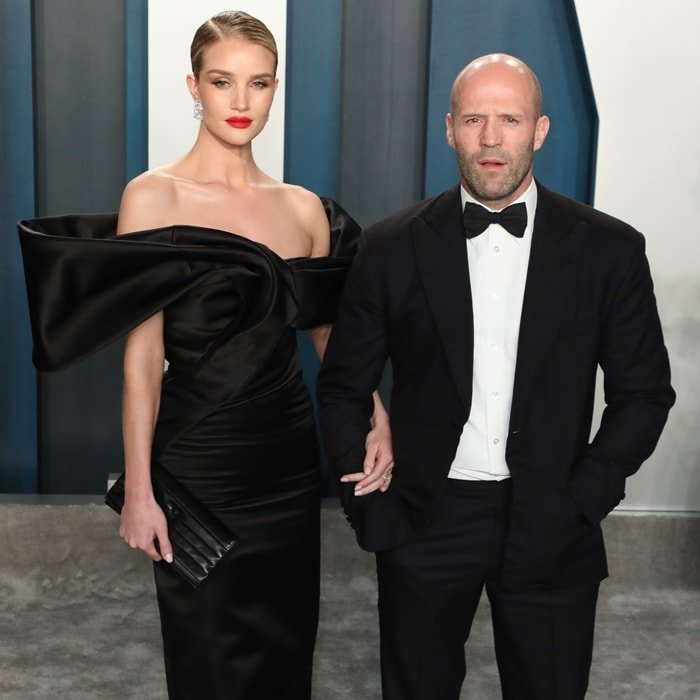 Rosie Huntington-Whiteley and Jason Statham attend the 2020 Vanity Fair Oscar Party