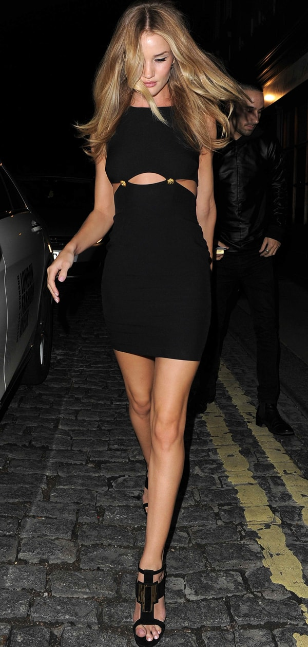 Rosie Huntington-Whiteley is often seen at one of the most exclusive private members clubs in London