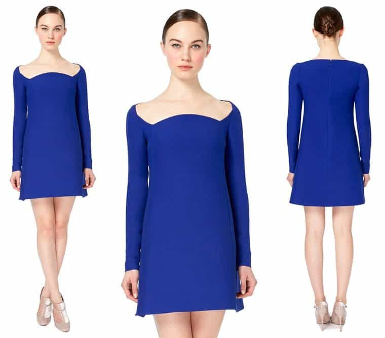 Valentino Square Neck Dress