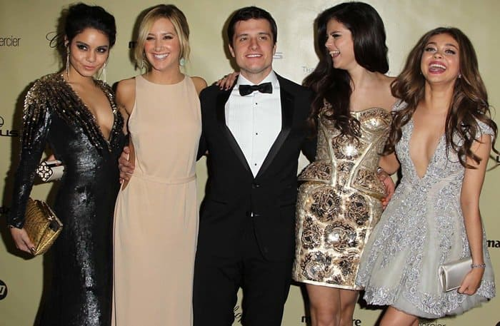 Vanessa Hudgens, Ashley Tisdale, Josh Hutcherson, Selena Gomez and Sarah Hyland at the Warner Bros. and InStyle Golden Globe Awards After Party