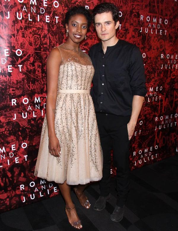 "Condola Rashad and Orlando Bloom at ""Romeo and Juliet"" after party"