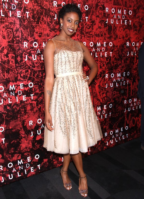 """Condola Rashad in sparkly dress at """"Romeo and Juliet"""" after party"""