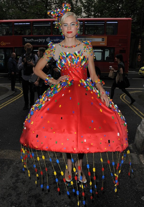 LEGO brick dress by Anne-Sophie Cochevelou