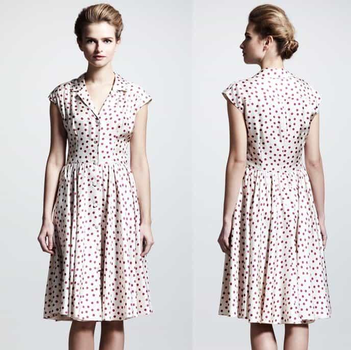 Dolce and Gabbana Polka Dot Shirtdress-horz
