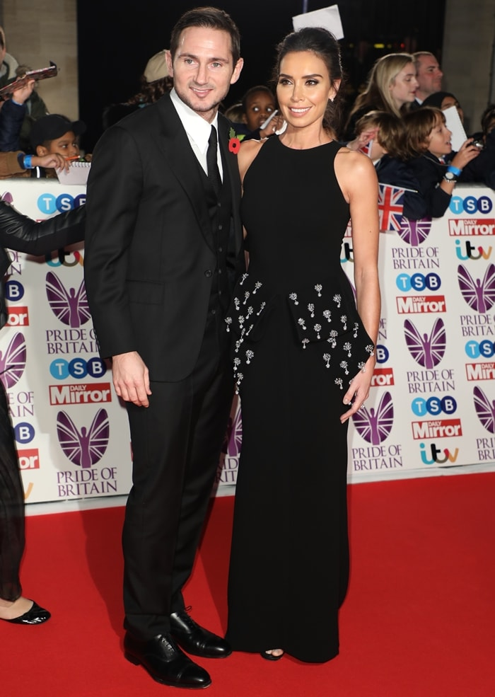 Christine Lampard and her husband Frank Lampard attend the Pride Of Britain Awards