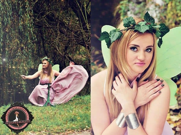 Irmina wears an adult fairy costume