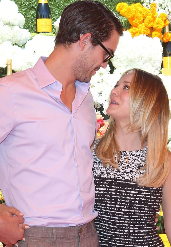 Kaley Cuoco and Ryan Sweeting became engaged after three months of dating