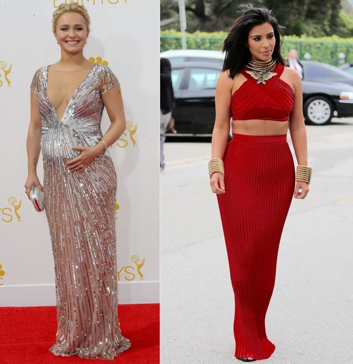 Celebrities wearing jewelry with maxi dresses