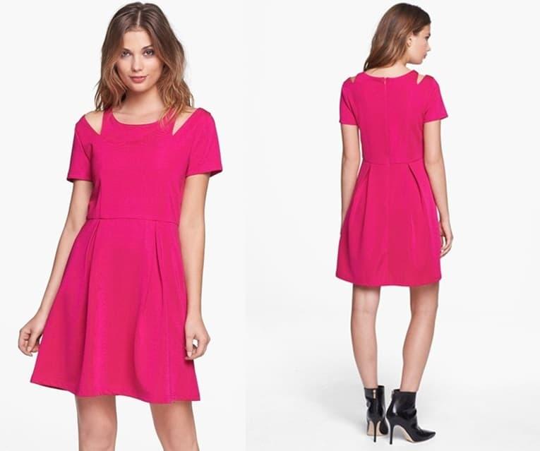 Mink Pink Shoulder Cutout Dress