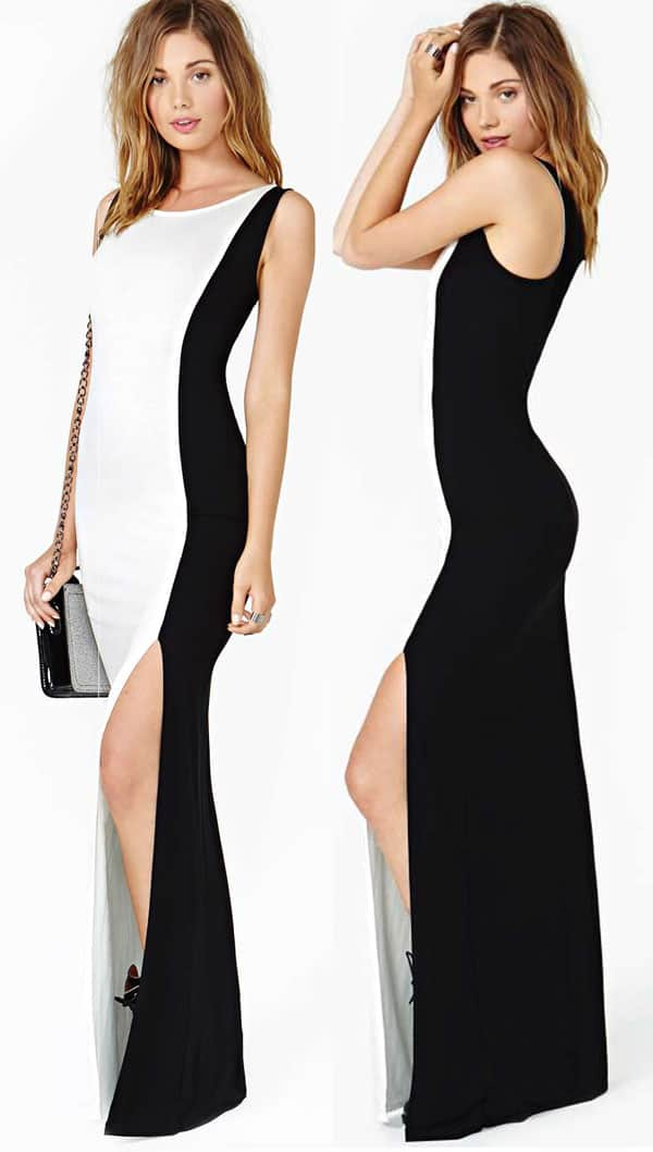 Nasty Gal Double Life Maxi Dress