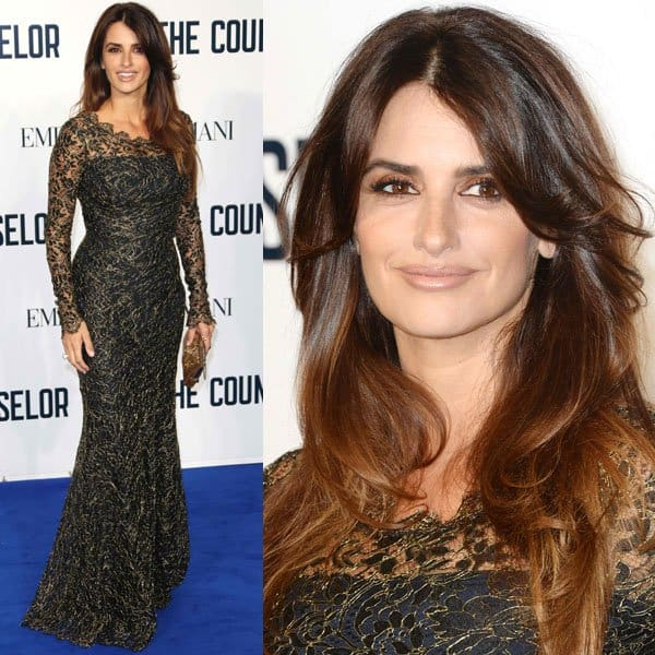 Penélope Cruz pulled out all stops with this Temperley London dress, which magically condemned the existence of her bad angles