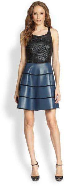 Sachin + Babi Walker Fit-n-Flare Dress in Blue