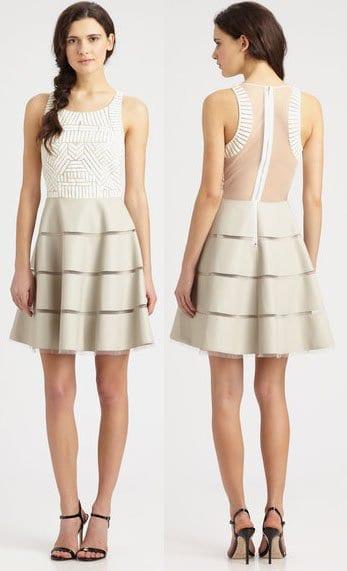 Sachin + Babi Walker Fit-n-Flare Dress in White