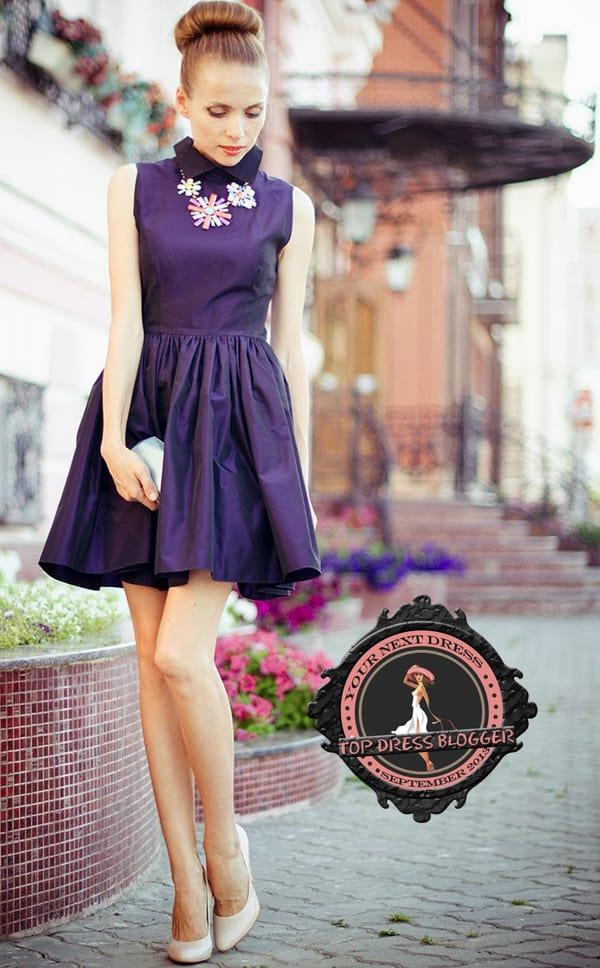 Tini Tani trades LBD for a little purple dress