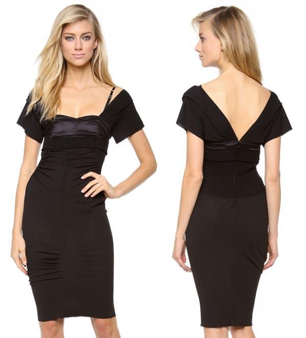 Nina Ricci - Cap Sleeve Fitted Dress