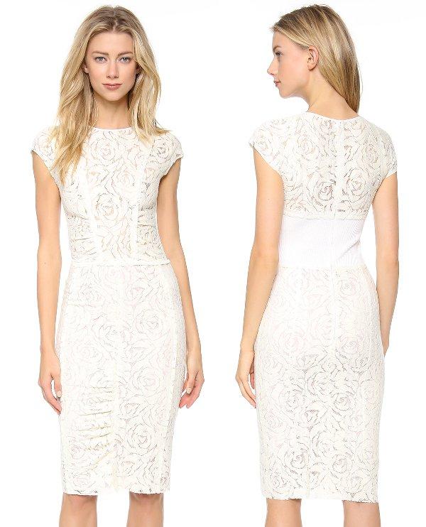 Nina Ricci - Cap Sleeve Lace Dress